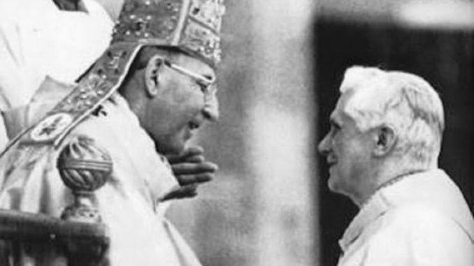 Papst Johannes Paul II. mit Joseph Kardinal Ratzinger (1978)