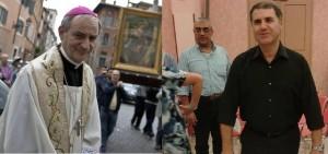 Die neuen Erzbischöfe (v.l.) Msgr. Zuppi (Bologna) und Msgr. Lorefice (Palermo)